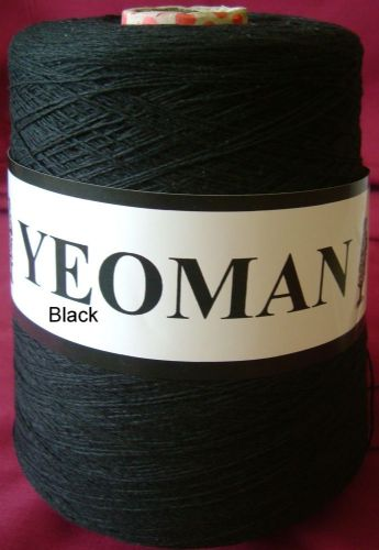 Yeoman Soft Cotton Yarn 2ply - Black